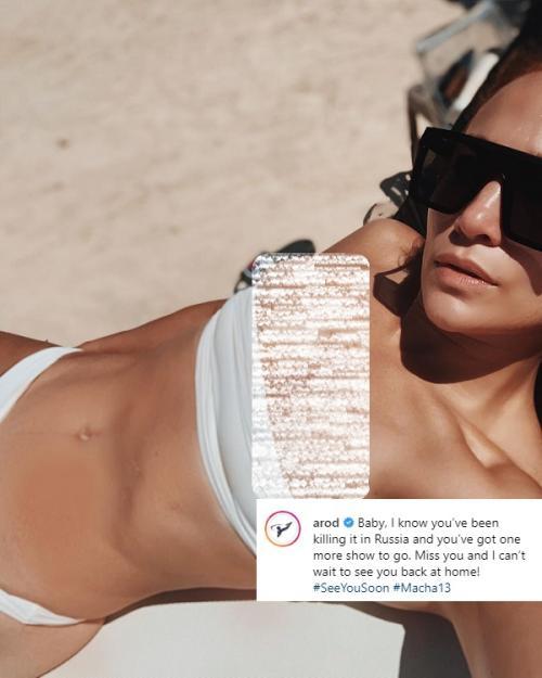 Alex Rodriguez unggah foto Jennifer Lopez dalam balutan bikini. (Foto: Instagram)