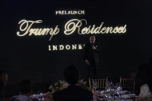 HT di Pre-Launch Trump Residence (Dok MNC)