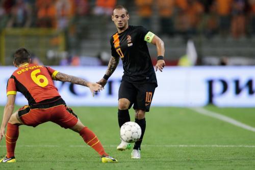 Wesley Sneijder bersama Timnas Belanda (Foto: Twitter/@sneijder101010)