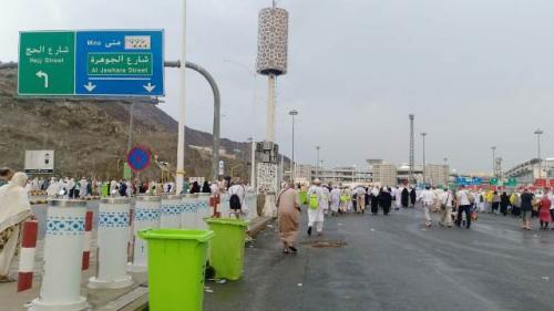 Lalu lintas di Tanah Suci saat masa haji. (Foto: Widi Agustian/Okezone)