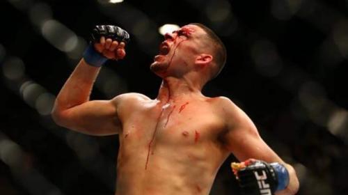 Nate Diaz saat bertarung di arena UFC