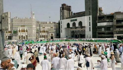 Jamaah Haji di Arab Saudi. (Foto : Widi Agustian/Okezone)