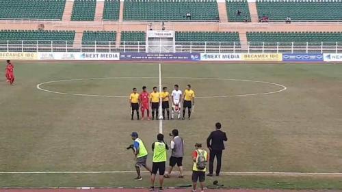 Timnas Indonesia U-18 saat hadapi Myanmar di fase grup