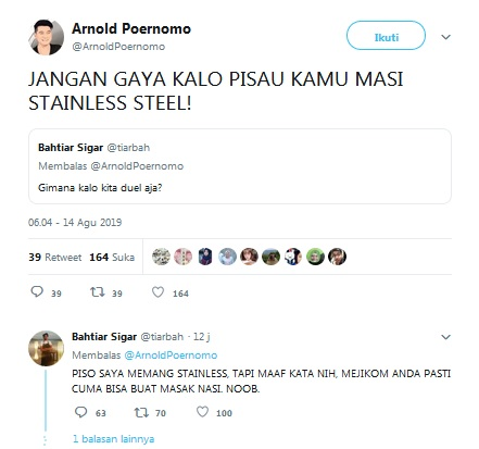 Chef Arnold tweet