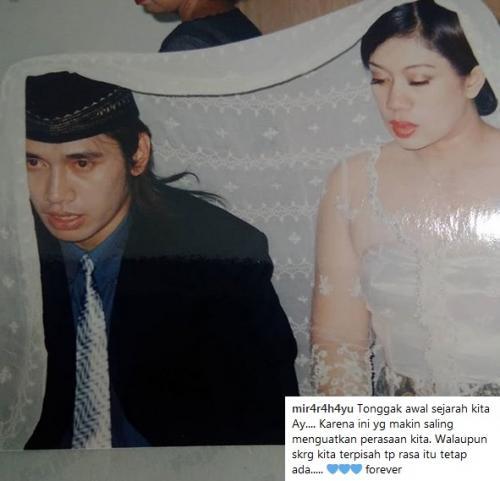 Foto pernikahan Agung Hercules dan Mira Rahayu