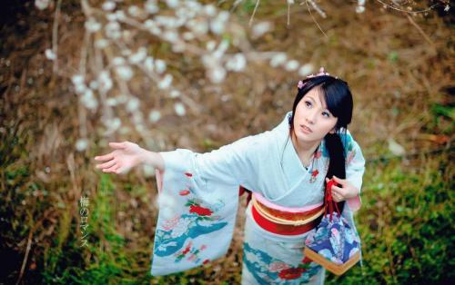 perempuan Jepang sakura