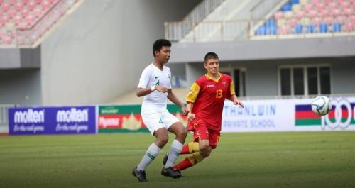 Timnas Indonesia U-15 sukses mencetak gol di babak kedua (Foto: Laman Facebook Federasi Sepakbola Myanmar)