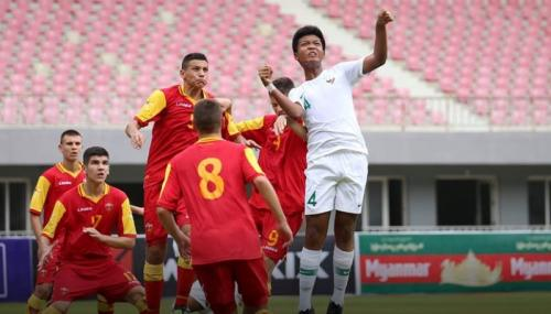 Timnas Indonesia bermain imbang di babak pertama (Foto: Laman Facebook Federasi Sepakbola Myanmar)