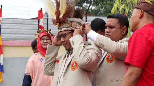 Ketua Pemuda Muhammadiyah Sunanto (Cak Nanto) Rayakan HUT Ke-74 RI di Jayapura, Papua (foto: Ist)
