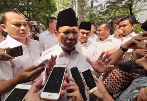 Prabowo Subianto Usai Upacara di Kantor DPP Gerindra/Foto: Harits Tryan Akhmad