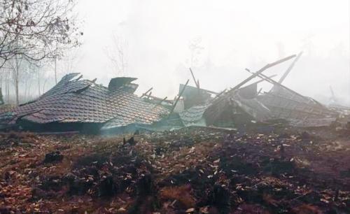 SD di Kalbar terbakar akibat karhutla