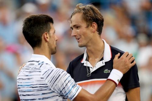 Novak Djokovic dan Daniil Medvedev