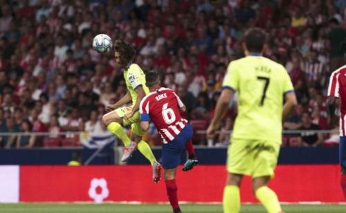Laga antara Atletico Madrid vs Getafe berlangsung keras (Foto: La Liga/Twitter)