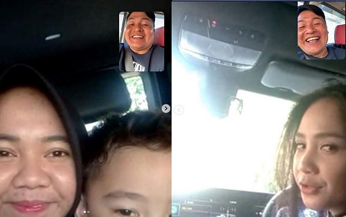 Merry video call Gigi dan Rafathar