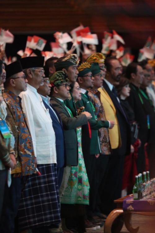 Sejumlah Menteri dan Ketum Parpol Hadiri Muktamar V PKB di Bali (foto: Abdul Rochim/Okezone)