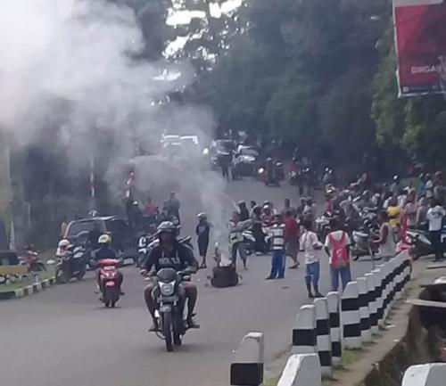 Kerusuhan di Manokwari (Foto: Istimewa)