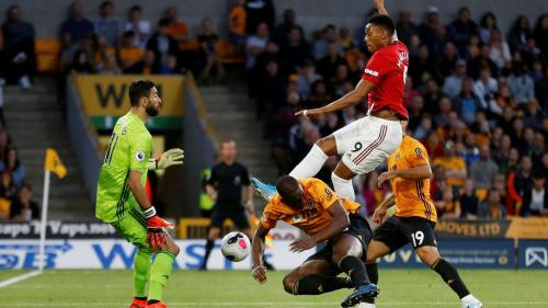 Anthony Martial vs Wolverhampton (Foto: Premier League)