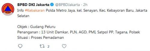 Twit BPBD DKI