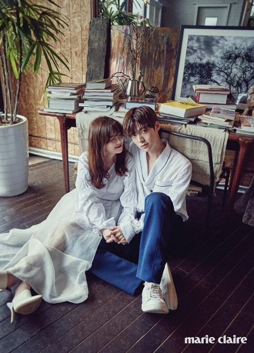 Ahn Jae Hyun dan Goo Hye Sun. (Foto: Marie Claire)