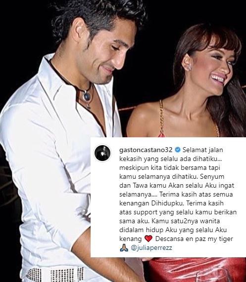 Gaston Castano saat masih menjalin hubungan dengan mendiang Julia Perez. (Foto: Instagram/@gastoncastano32)