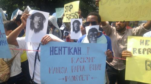 Ilustrasi aksi mahasiswa Papua di Bandung