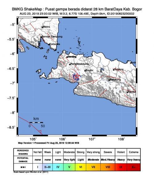 Gempa Bogor (foto: BMKG/Ist)