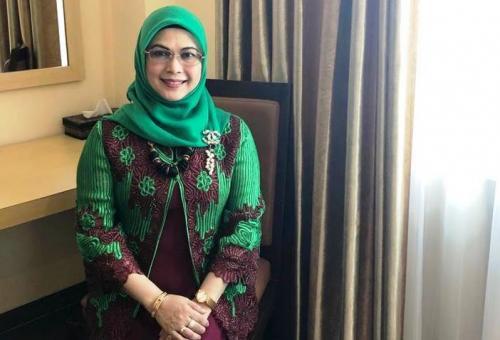 Siti Nur Azizah, putri KH Ma'ruf Amin, maju di Pilwalkot Tangsel 2020. (Foto Hambali Okezone)