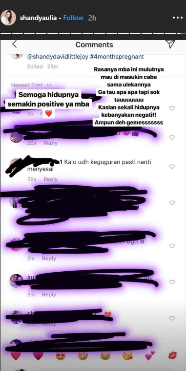 Shandy Aulia balas komentar pedas netizen soal kebiasannya menjalani pilates saat hamil. (Foto: Instagram/@shandyaulia)