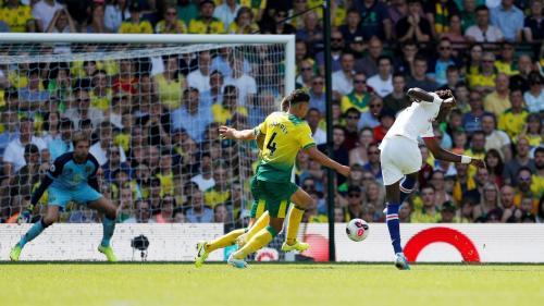 Tammy Abraham cetak gol ke gawang Norwich (Foto: Premier League)