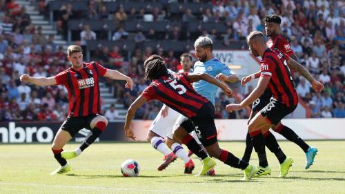 Sergio Aguero vs Bournemouth (Foto: Premier League)