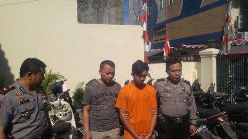 Polsek Andir Kota Bandung, berhasil Menangkap Pelaku Curanmor Berinisial HH yang Jadi DPO Polres Bandung, Jawa Barat (foto: Okezone.com/CDB Yudistira)
