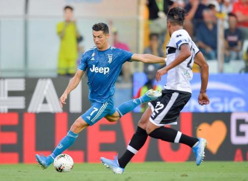 Gol Cristiano Ronaldo dianulir karena offside (Foto: Twitter/Juventus)