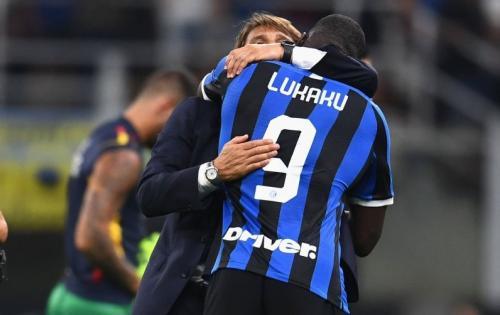 Antonio Conte dan Romelu Lukaku