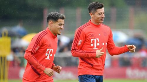 Philippe Coutinho dan Robert Lewandowski