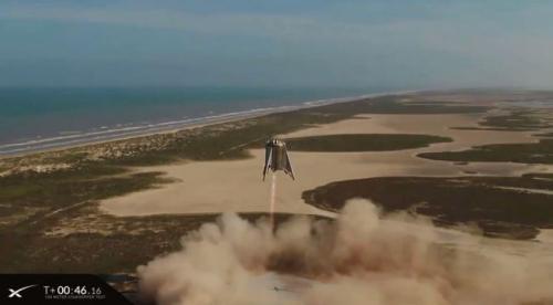 SpaceX meluncurkan kendaraan uji Starhopper pada Selasa malam untuk yang kedua kalinya.