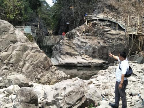 Curug Green Canyon di Bogor Kering (foto: Okezone.com/Putra RA)