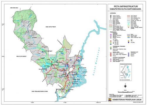 Peta Kutai Kartanegara (Foto: Kemen PU)