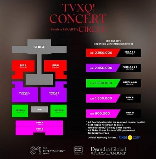 Tiket konser TVXQ