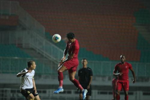 Timnas Indonesia menang 2-0 atas Bhayangkara FC (Foto: PSSI)