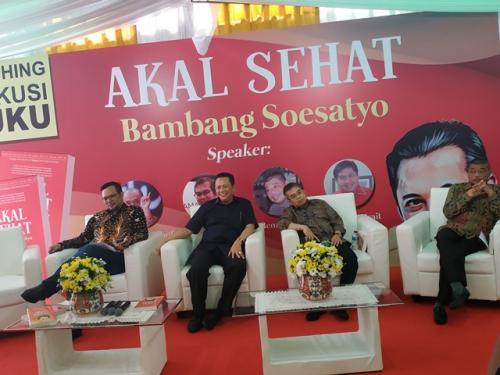 Bambang Soesatyo luncurkan buku 'Akal Sehat'. (Foto: Fakhrizal Fakhri/Okezone)