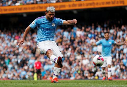 Sergio Aguero genapkan keunggulan Man City atas Brightojn
