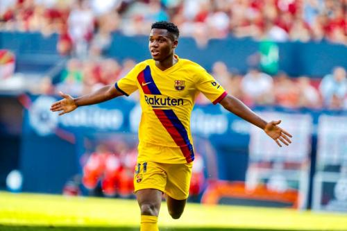 Ansu Fati cetak gol perdana untuk Barcelona