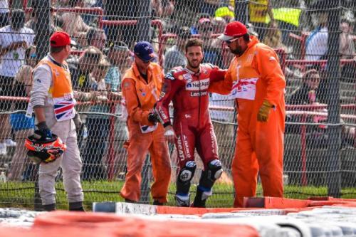 Dovizioso saat terlibat insiden di GP Inggris