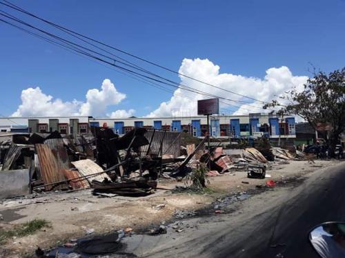 Ilustrasi kerusuhan di Papua