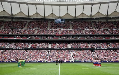 Suasana laga Atletico Madrid vs Eibar