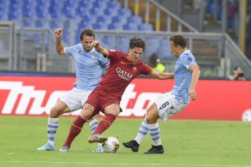Nicolo Zaniolo vs Lazio (Foto: Twitter/@ASRomaEN)