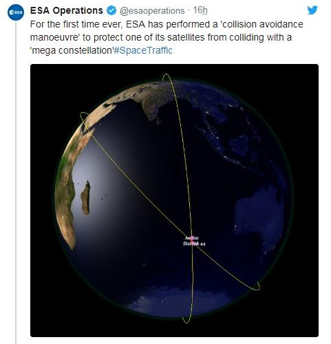 Pesawat Luar Angkasa ESA Hindari Tabrakan dengan Satelit Starlink
