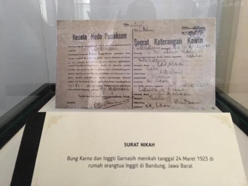 Surat Kawin Soekarno-Inggit (Foto: Okezone/Demon)