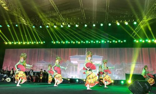 Pentas budaya Merajut Nusantara 2019 untuk Indonesia satu. (Foto: Okezone/Ady Prawira Riandi)