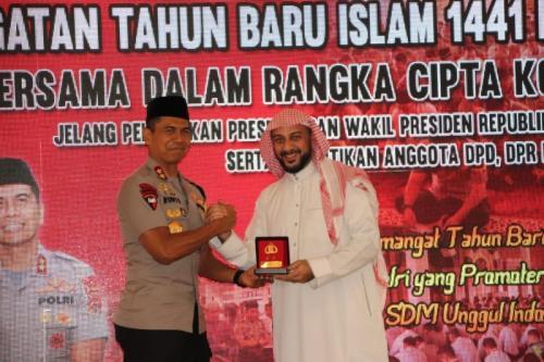 Kapolda Jawa Barat Irjen Rudy Sufahriadi dan Syekh Saleh Muhammad Ali Jabber (foto: Ist)